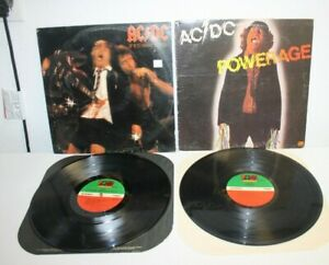 AC/DC POWERAGE (SD19180) & IF YOU WANT BLOOD (SD19212) VINYL RECORDS 1978 NM!