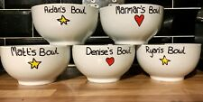 Personalised Bowl Cereal Soup Name Christmas Gift Family Love Hearts And Stars