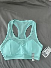 Nwt Forever 21 Womens Sport Bra Mint Green Blue Xs Xxs Sheer Mesh Rare Sold Out