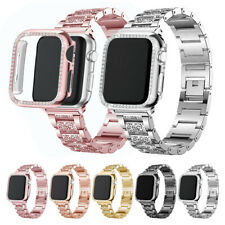 For Apple Watch Series 5 4 3 2 1 Bling Band Bracelet + Bumper Case 38/40/42/44mm