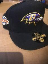 bb5d45543 Retro BALTIMORE RAVENS New Era 59FIFTY Super Bowl XXXV Cap Hat Size 7 3 8