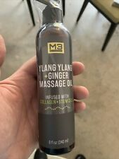 M3 Naturals Ylang Ylang and Ginger Massage Oil Infused w/ Collagen and Stem Cell