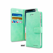 MERCURY BLUEMOON DIARY Cover  Leather Wallet Case Mint  For iPhone 7