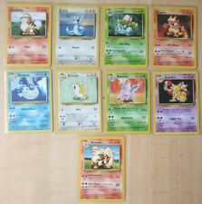 Vintage Pokemon cards Base Set Uncommon Lot (9) Played Wotc ivysaur, kadabra