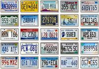 50 x USA License Plate Fridge Magnets