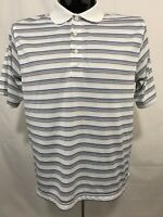 PALM BEACH GOLF Mens Polo Shirt M White Performance Wicking Polyester S/S