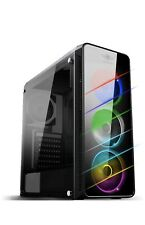 Spirit Of Gamer- Deathmatch 7 : Pc Case Gaming ATX MITX Compatible,4 Fan, 7 Led