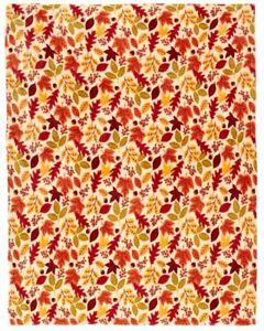 "Fall Halloween Leaves Maple Leaf Acorn Throw Blanket 50"" x 60"""