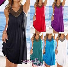 ♥Größe 36 bis 42 Sommerkleid Cocktailkleid Minikleid Strandkleid Abendkleid+NEU♥
