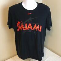 Nike Mens T-Shirt Black Large Miami Marlins 2017 MLB All Star Game Free Ship!
