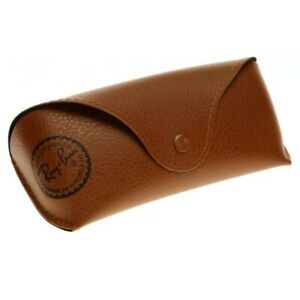 Ray-Ban Leather Sunglass / Eyeglass Case - BROWN - with Manual & Cleaning Cloth