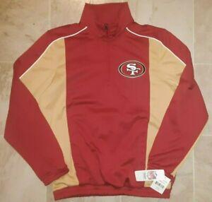 SAN FRANCISCO 49ERS MEN 1/4 ZIP SWEATSHIRT GOLF MEN JERSEY CL NFL FOOTBALL M MED