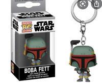 FUNKO POCKET POP KEYCHAIN Boba Fett Star Wars Lucas Disney Vinyl Toy Rare