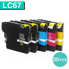 30x Ink Cartridges LC67 LC38 for Brother MFC-6490CW MFC-255CW DCP 145C 185C 195C