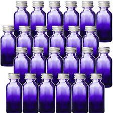 1 oz Purple Shaded Glass Boston Round Bottles w/ Aluminum Lids New Pack of 24