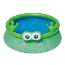 Summer Waves 6ft x 20in Inflatable Frog Character Quick Set Pool, Green (Used)