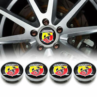 NEU 4 x 60mm FIAT Abarth Nabenkappen Felgendeckel Alloy Wheel Rims Centre Cap