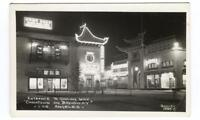 RPPC Postcard Entrance Ginling Way Chinatown Broadway Los Angeles CA