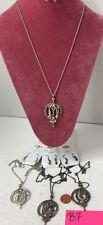 Love Dream Hope Shoes Dancer Charm Necklace & Earring 4sets Silver GunMetal #B7
