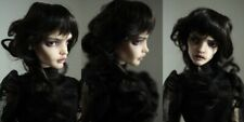 curly Leeke black  wig for bjd doll 6-7'' msd 1/4 1/6 size