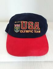 CHAMPION  USA OLYMPIC TEAM 100 ATLANTA SNAPBACK EMBROIDERED HAT CAP NEW BLUE RED