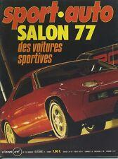 SPORT AUTO n°189 10/1977 SALON de PARIS LONDRES SYDNEY AVEC ENCART & POSTER