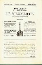 Bulletin de la société Royale Le Vieux-Liège - N° 156 - 1967 - CREVECOEUR-ESNEUX
