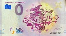 BILLET 0 EURO SPIROU ET FANTASIO  BANDE DESSINEE  FRANCE   2018  PETIT NUMERO 15