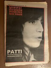 New Musical Express NME Sept 16 1978 Patti Smith Clash David Bowie Wire Blondie