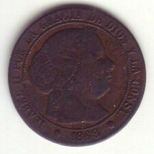 Devise 1/2 Centime D'Escudo Isabelle II - Année 1868 Om - Sevilla