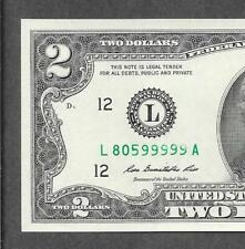 Dual Novelty Miscut 2 in 1 $2 2013 Two Dollar Green Seal Federal Reserve Note