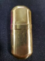 Vintage Slim Brass Lighter Korea Unused Not Marked Marlboro