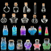10Pcs Cork Empty Small Tiny Clear Message Glass Bottles Wishing Vials Pendant