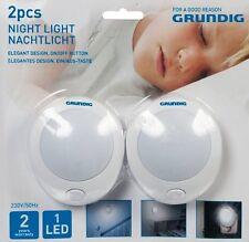 LED-Nachtlicht GRUNDIG, 1 LED, An/Aus-Schalter, 2er-Pack