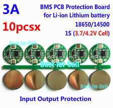 10PCS 1S 3A Li-ion Lithium 3.7V 18650 Battery Charger BMS Protection PCB Board