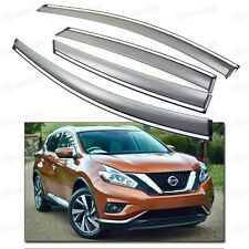 4Pcs Car Window Visor Vent Shade Rain/Sun Guard for 2015-2016 Up Nissan Murano
