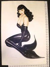 "Betty Page Up Periscope Lithograph Olivia De Berardinis #46/50 26"" x 38"" F"