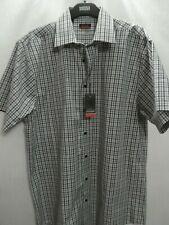 Mens Pierre Cardin Shirt BNWT Short Sleeve Check Pattern Brand New MEDIUM