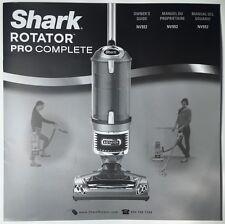 Shark Vacuum Rotator Pro Complete Owner's Guide/Manual NV552