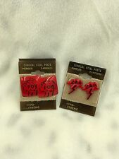 Vintage POW  ZAP Surgical Stainless Steel Posts Comic Earrings Women Retro Red