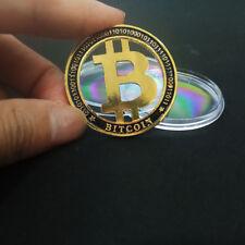 2 x Bitcoin Coin BTC Commemorative Collectible Coin Hollow BitCoin Souvenir Gift