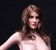 "1/6 Natalie Portman Brown Long Hair Female Women Head Sculpt F 12"" Figure Body"