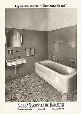 W9224 Apparecchi Sanitari STANDARD-IDEAL - Pubblicità del 1940 - Vintage advert