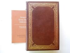 Whitman; Leaves of Grass: Franklin Library limited edition: has editors notes