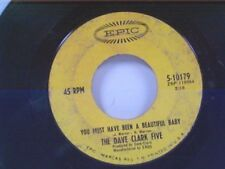 """DAVE CLARK FIVE """"YOU MUST HAVE BEEN A BEAUTIFUL BABY / MAN IN THE PIN STRIPE"""" 45"""