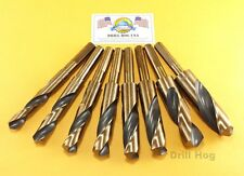 "Drill Hog USA Silver & Deming Drill Bits 9/16"" to 1"" Jumbo Set Lifetime Warranty"