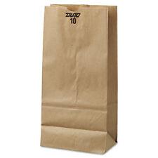 General #10 Paper Grocery Bag 35lb Kraft Standard 6 5/16 x 4 3/16 x 13 3/8 500
