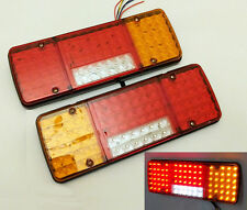 PAIR 12V LED REAR TAIL LIGHTS LAMPS 5 FUNCTION TRAILER CARAVAN TRUCK VAN 98 LED