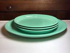 Set of 4 Turquoise Fiesta Ware Platters Post 86