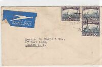 South Africa 1937 johannesburg cancel to england airmail stamps cover ref 21787